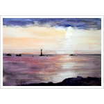 Lands End sunset watercolour