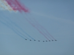 Red Arrows flypast