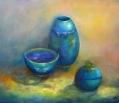 3 Turquoise Pots